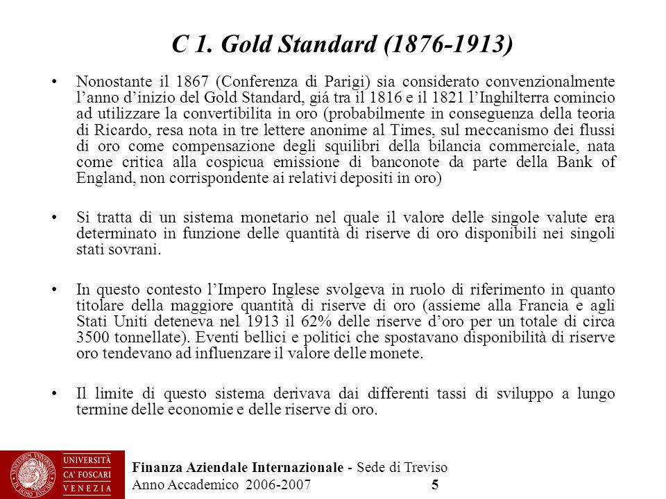 C 1. Gold Standard (1876-1913)