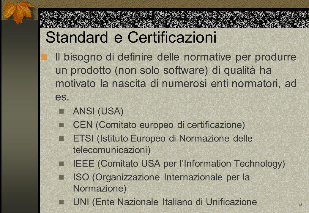 Standard e Certificazioni