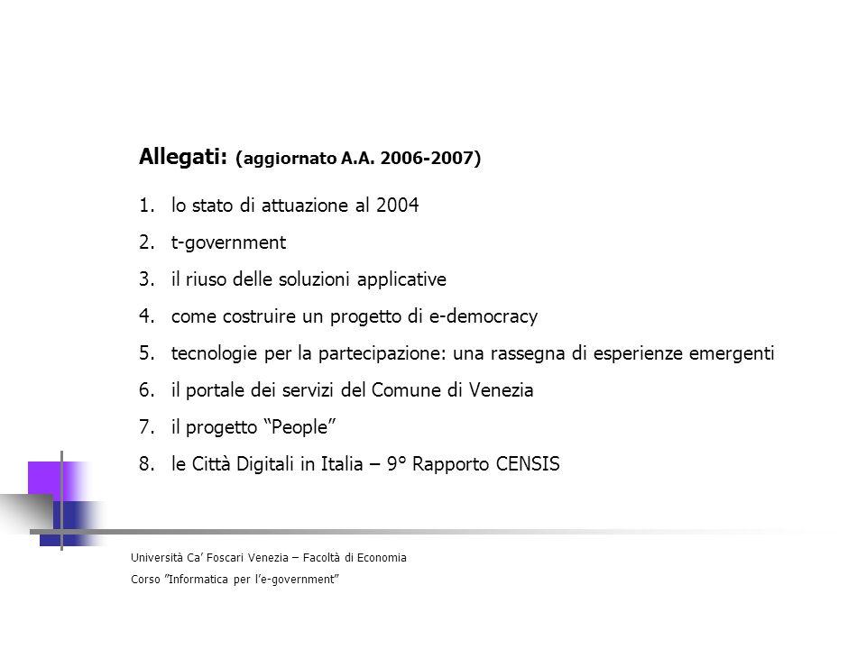 Allegati: (aggiornato A.A. 2006-2007)