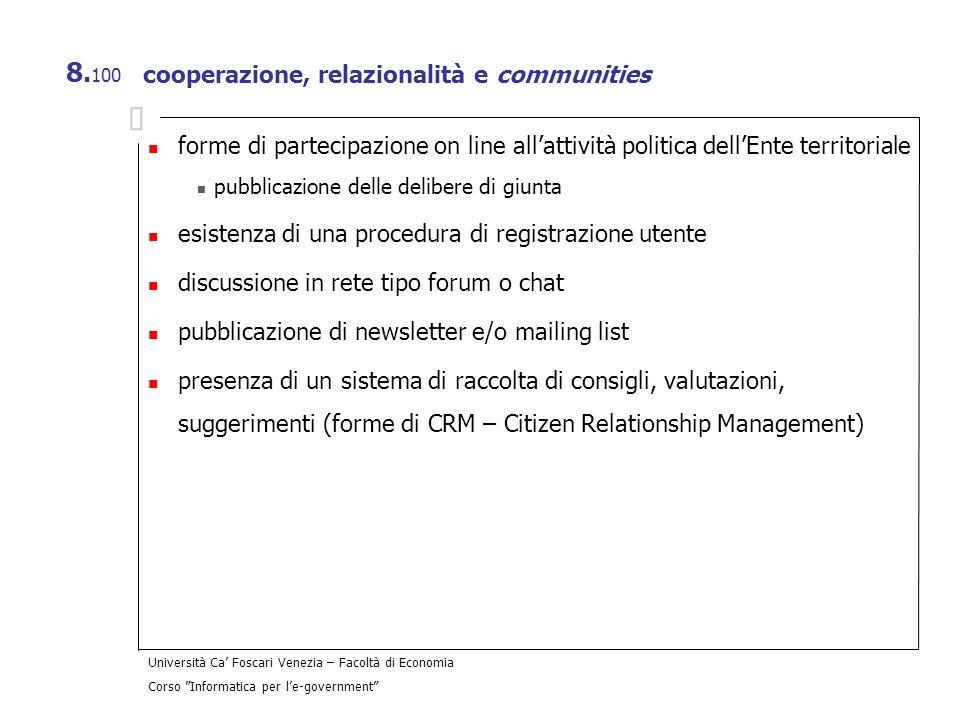 cooperazione, relazionalità e communities