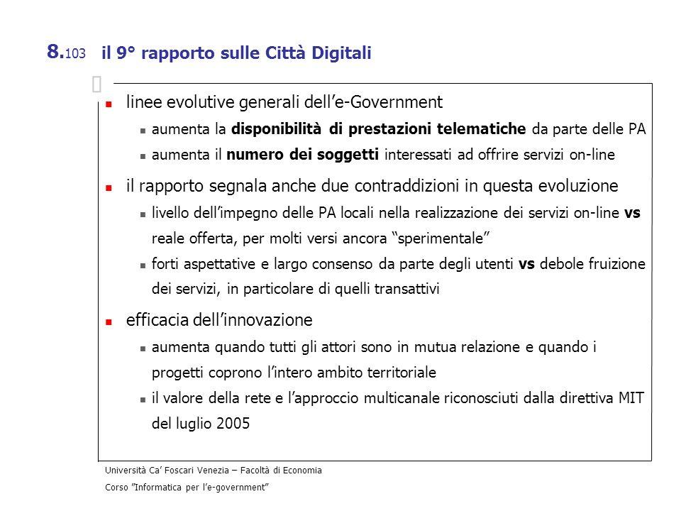 il 9° rapporto sulle Città Digitali