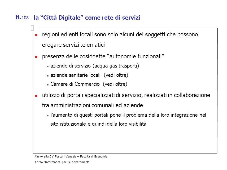 la Città Digitale come rete di servizi