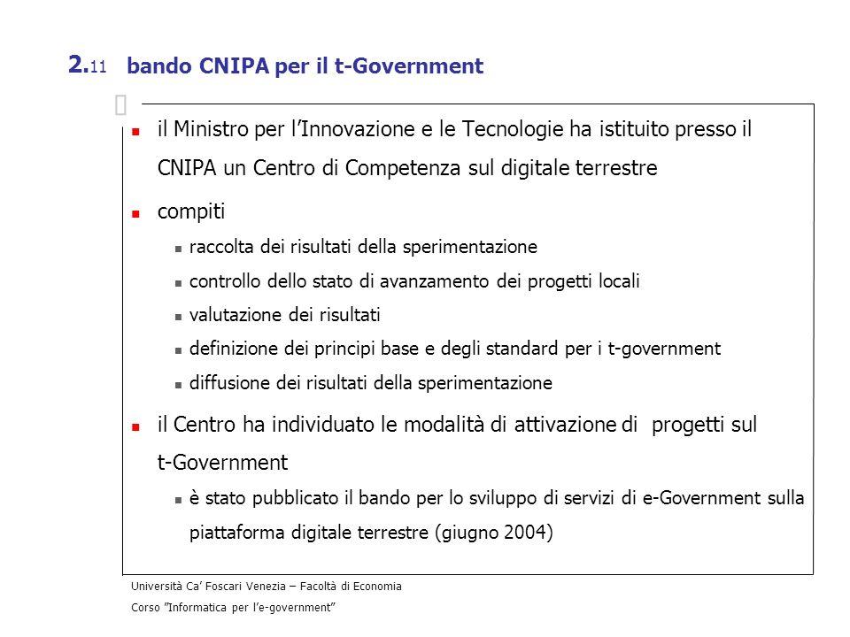 bando CNIPA per il t-Government