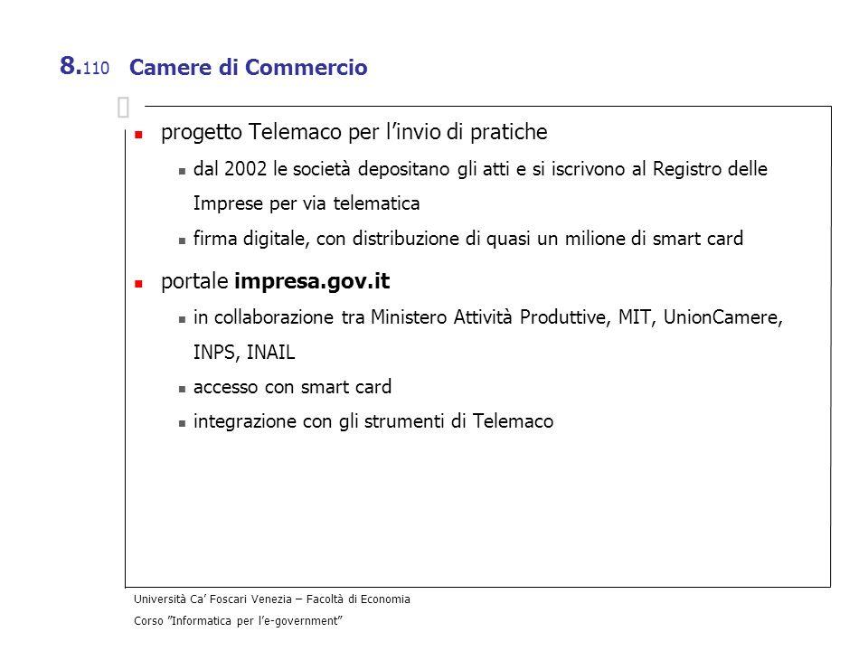 progetto Telemaco per l'invio di pratiche