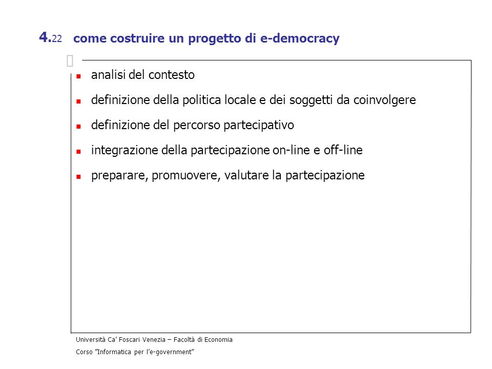 come costruire un progetto di e-democracy