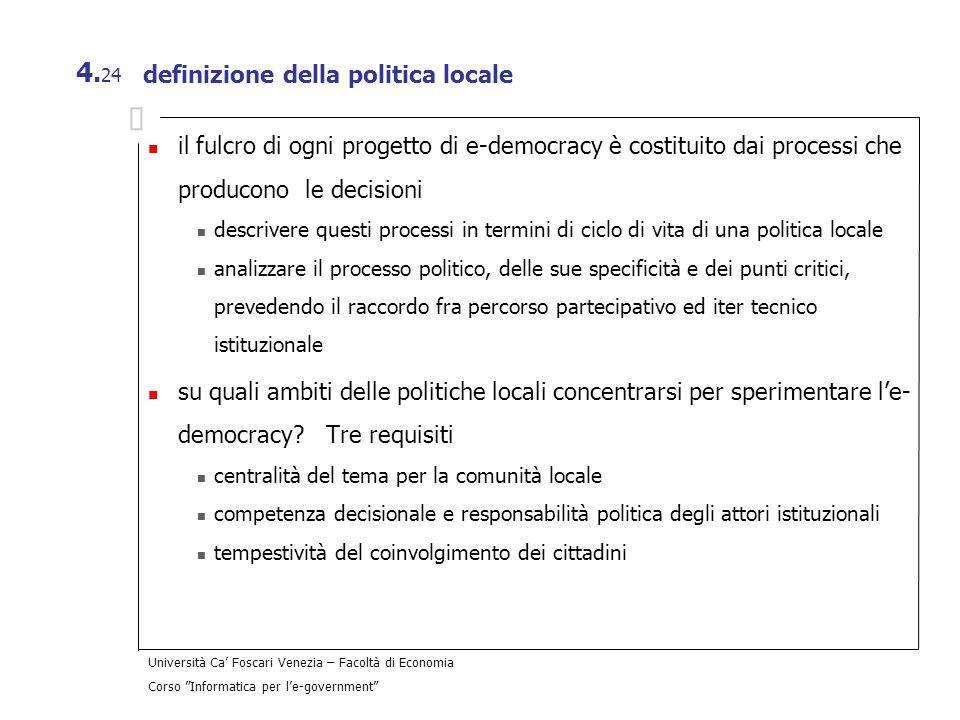 definizione della politica locale