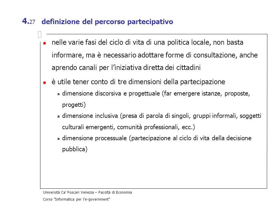 definizione del percorso partecipativo