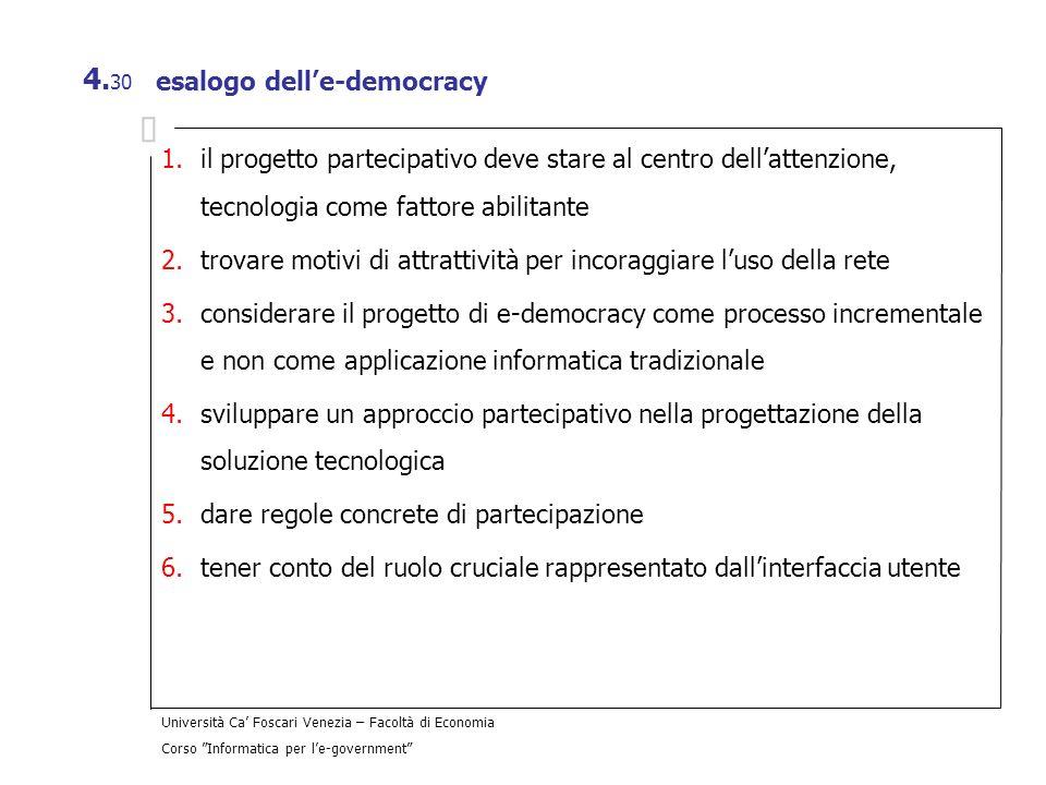 esalogo dell'e-democracy