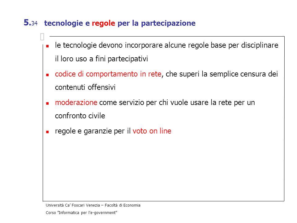 tecnologie e regole per la partecipazione