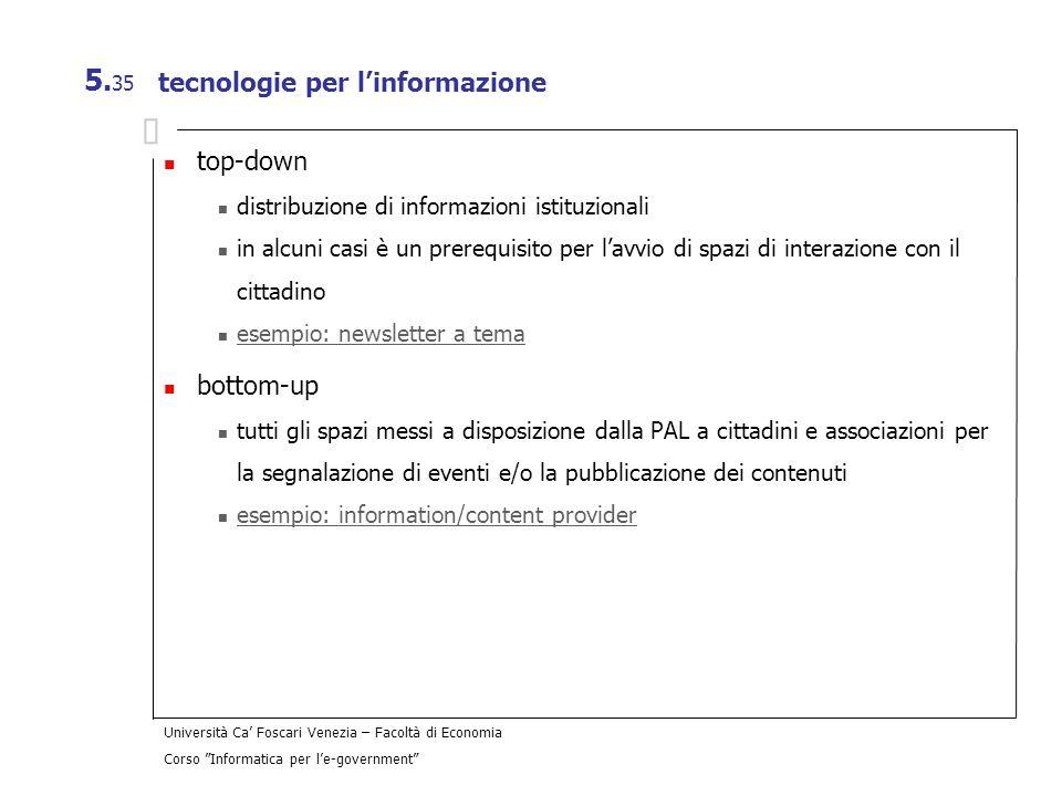 tecnologie per l'informazione
