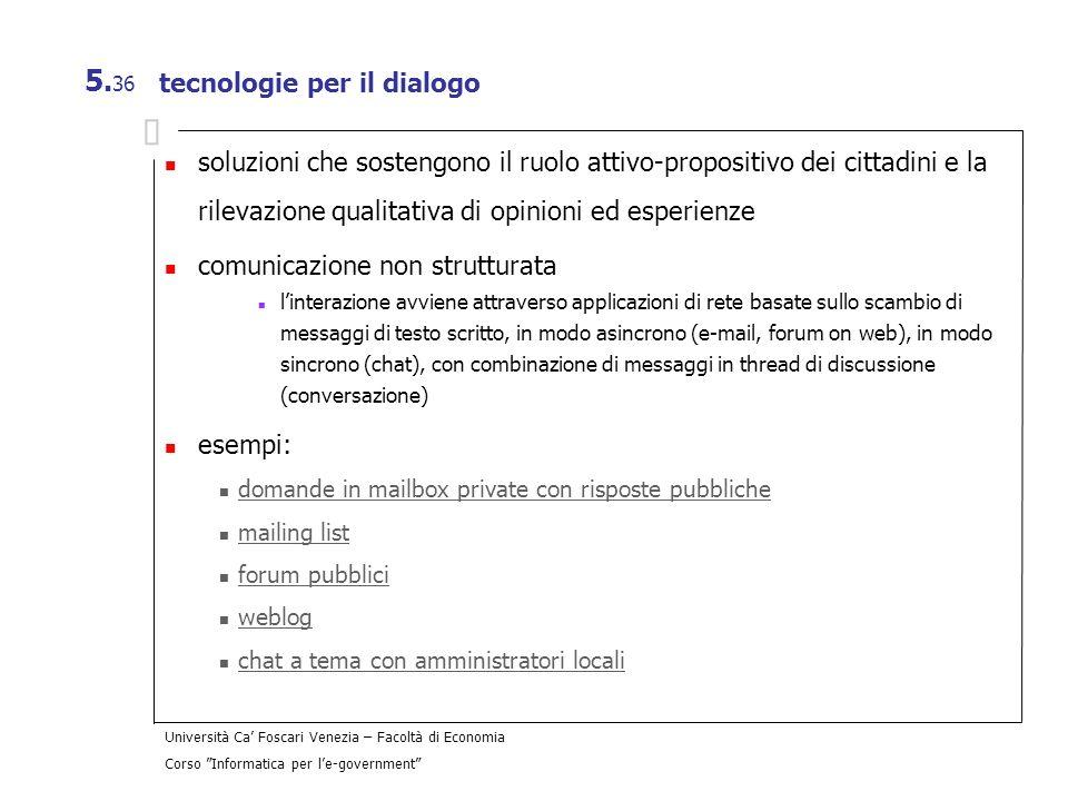 tecnologie per il dialogo