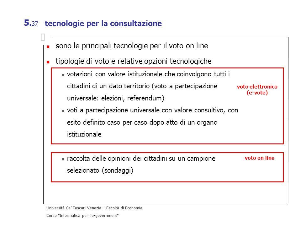 tecnologie per la consultazione