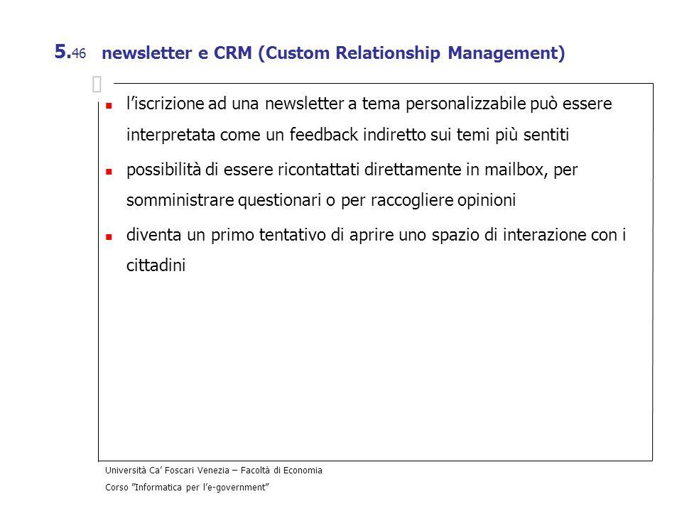 newsletter e CRM (Custom Relationship Management)