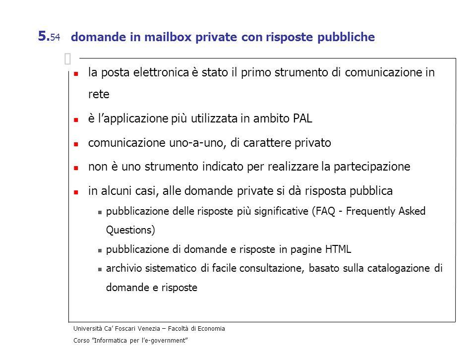 domande in mailbox private con risposte pubbliche