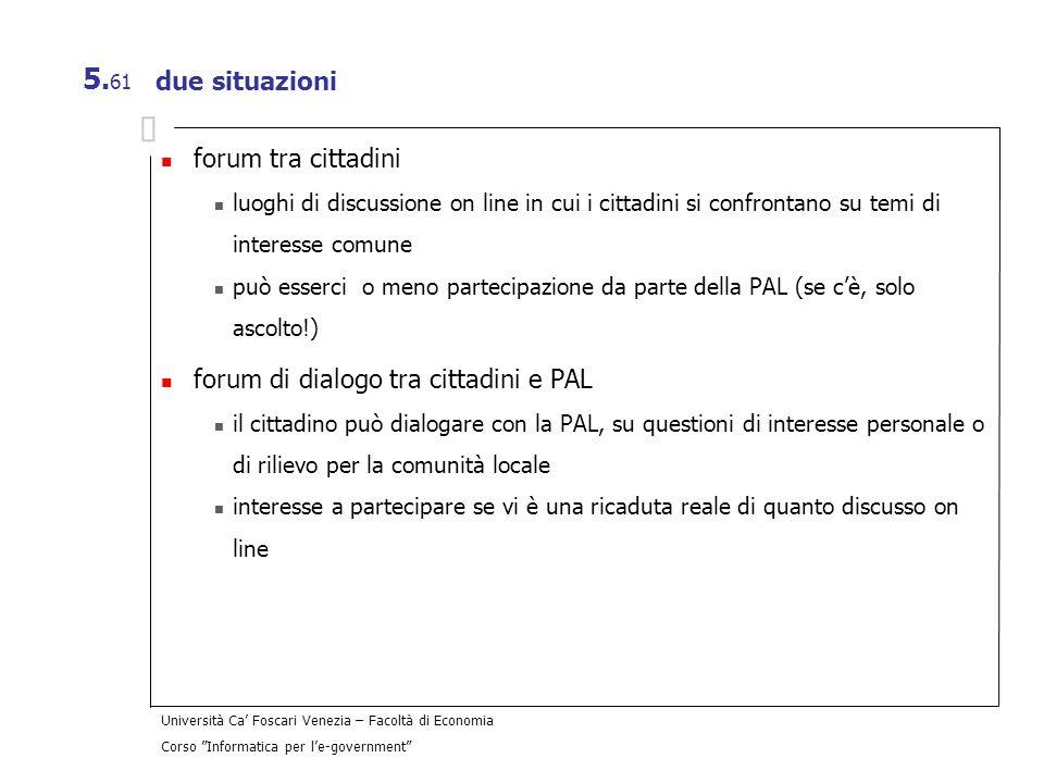 forum di dialogo tra cittadini e PAL