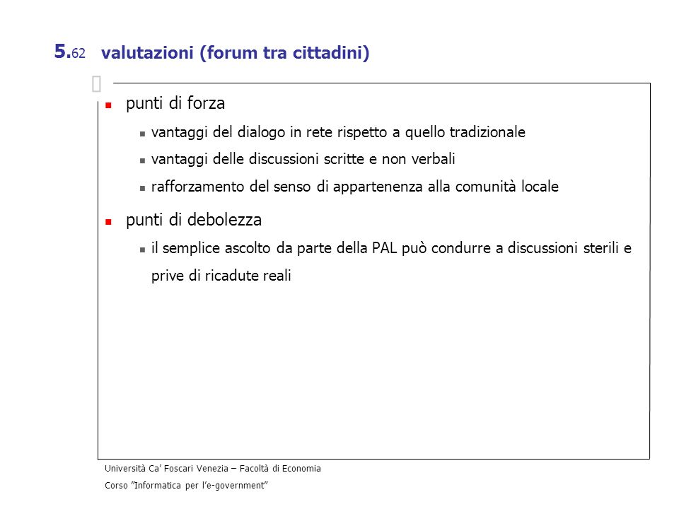 valutazioni (forum tra cittadini)