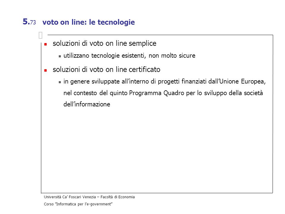 voto on line: le tecnologie