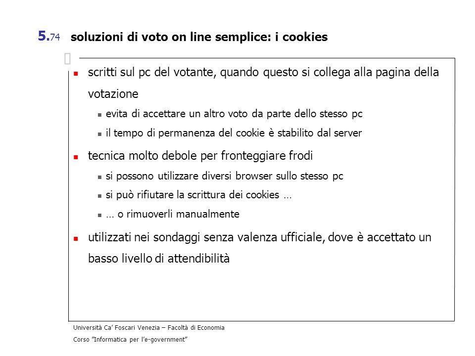 soluzioni di voto on line semplice: i cookies