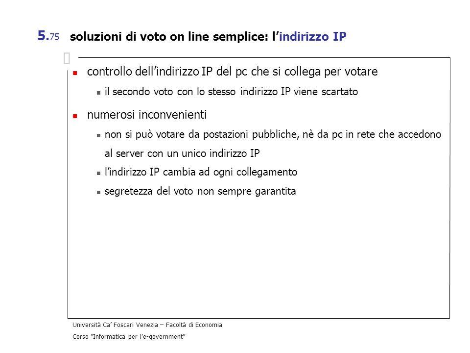 soluzioni di voto on line semplice: l'indirizzo IP