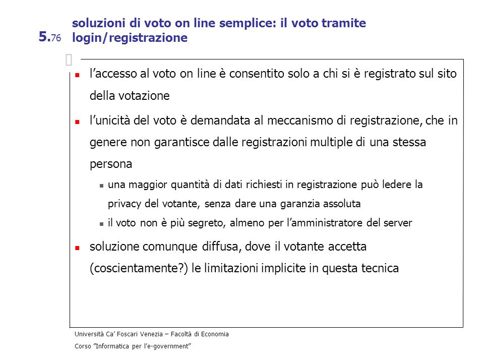soluzioni di voto on line semplice: il voto tramite login/registrazione