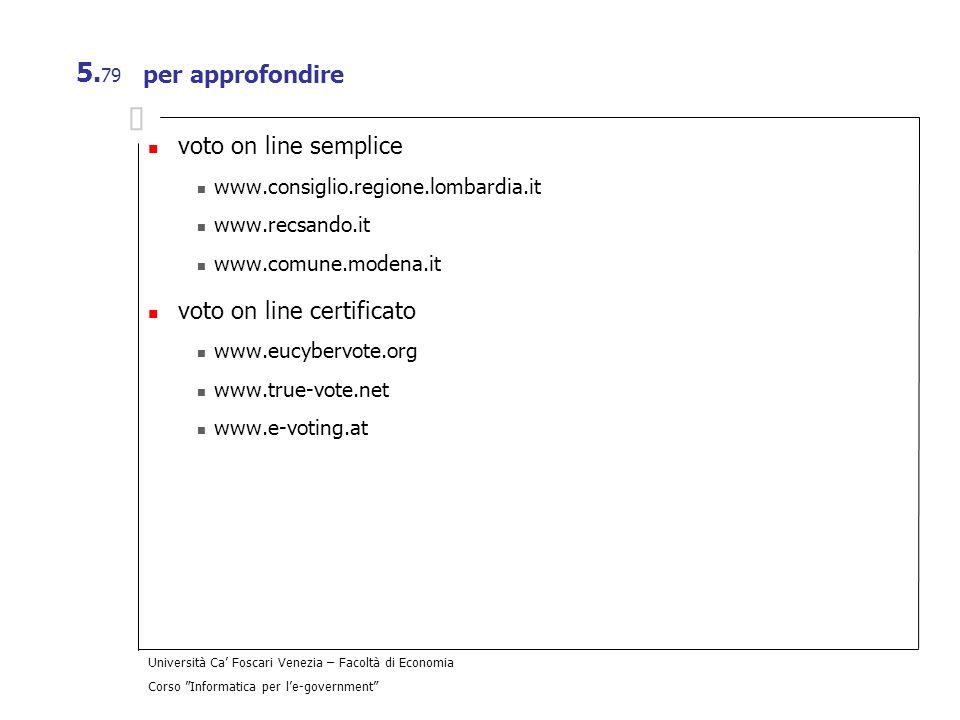 voto on line certificato