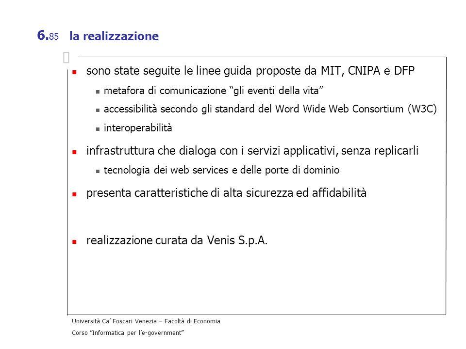 sono state seguite le linee guida proposte da MIT, CNIPA e DFP