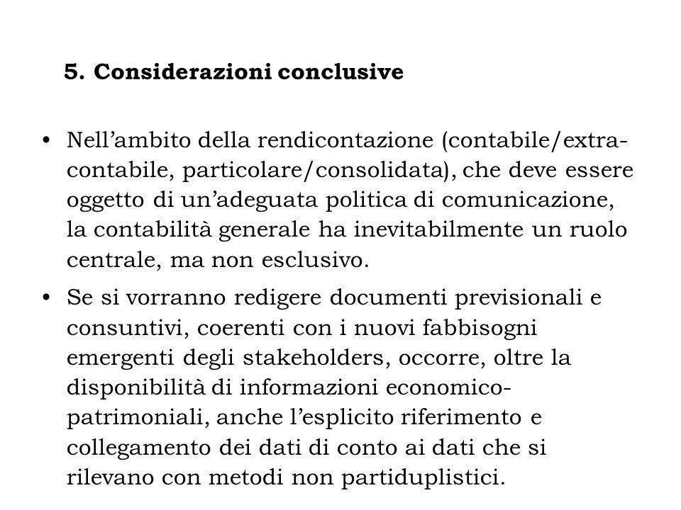 5. Considerazioni conclusive