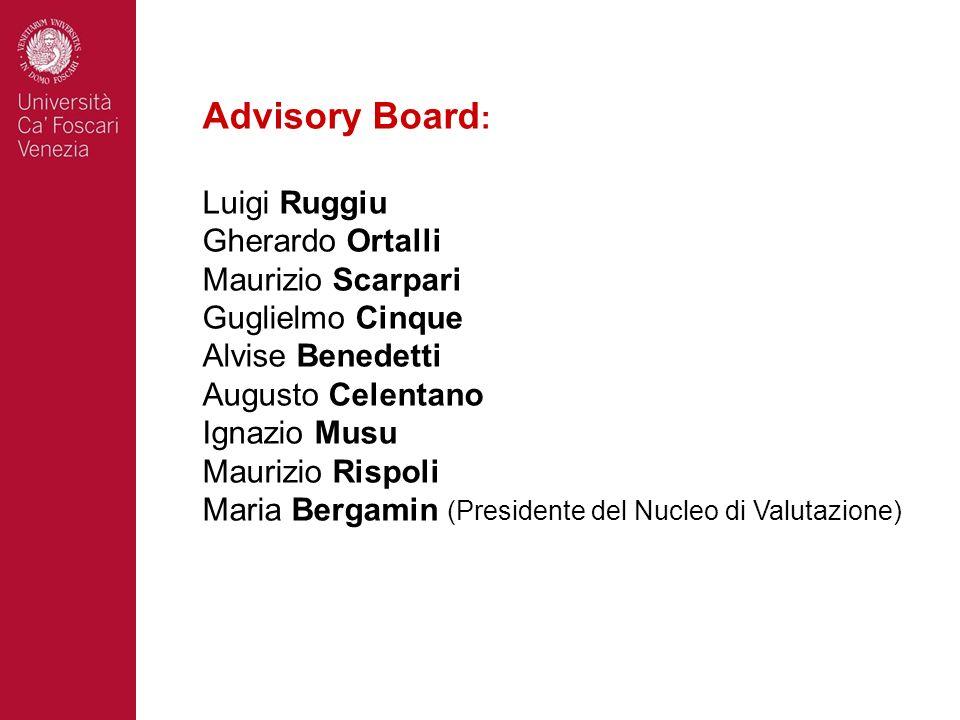 Advisory Board: Luigi Ruggiu Gherardo Ortalli Maurizio Scarpari