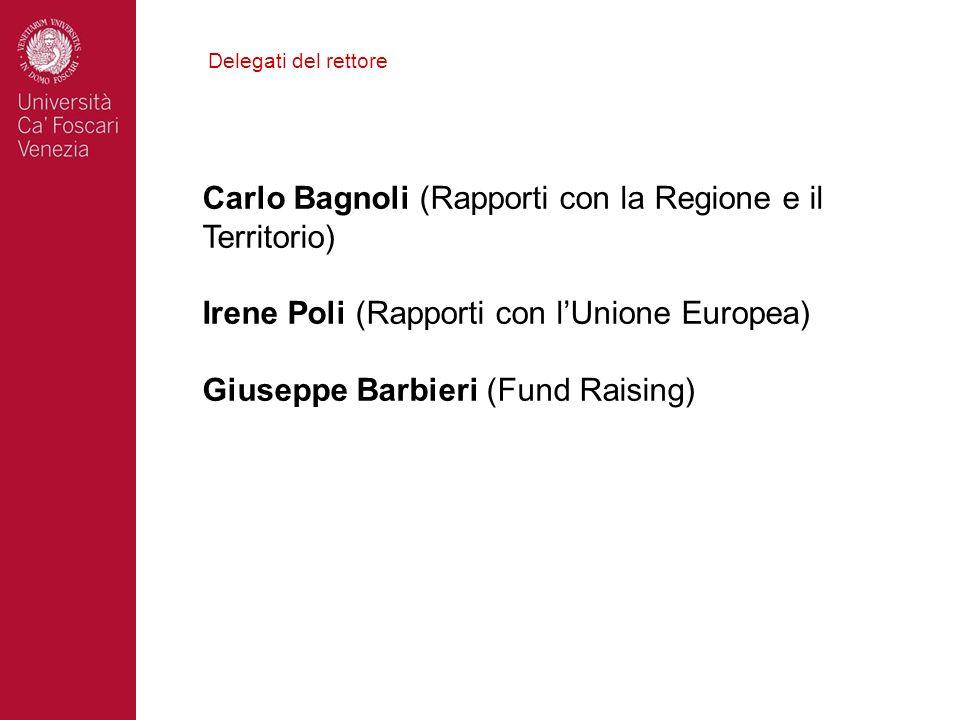 Carlo Bagnoli (Rapporti con la Regione e il Territorio)