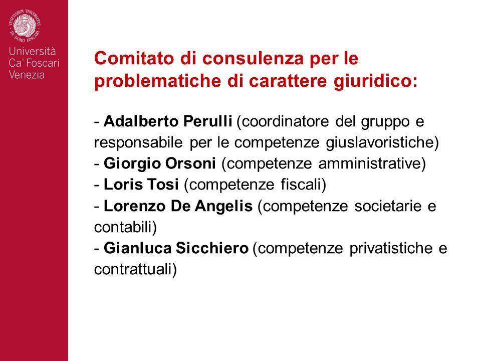 Comitato di consulenza per le problematiche di carattere giuridico: