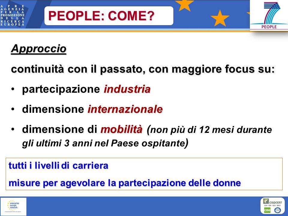 PEOPLE: COME Approccio