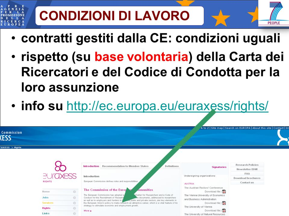 contratti gestiti dalla CE: condizioni uguali