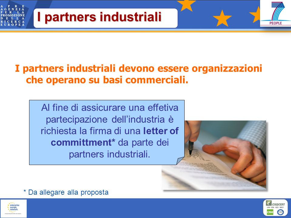 I partners industriali