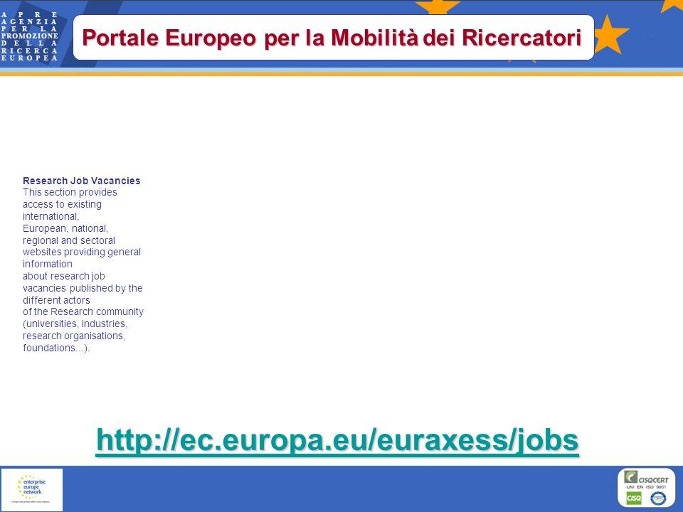 Portale Europeo per la Mobilità dei Ricercatori