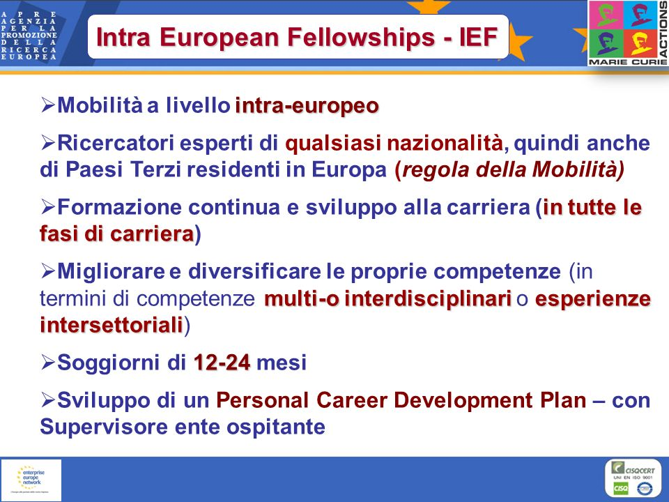 Intra European Fellowships - IEF
