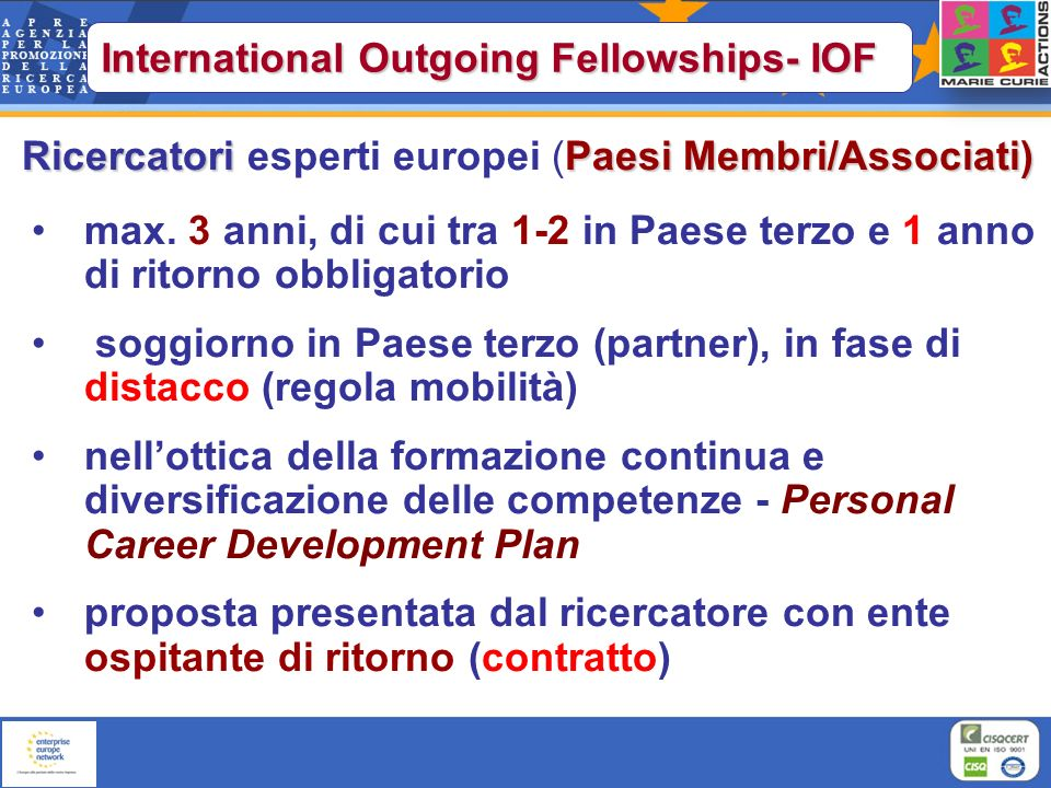 International Outgoing Fellowships- IOF