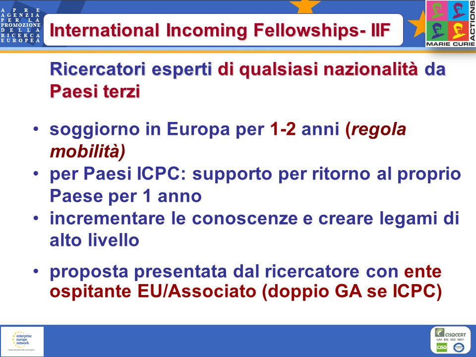 International Incoming Fellowships- IIF