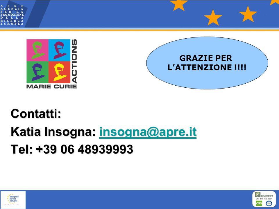 Katia Insogna: insogna@apre.it Tel: +39 06 48939993