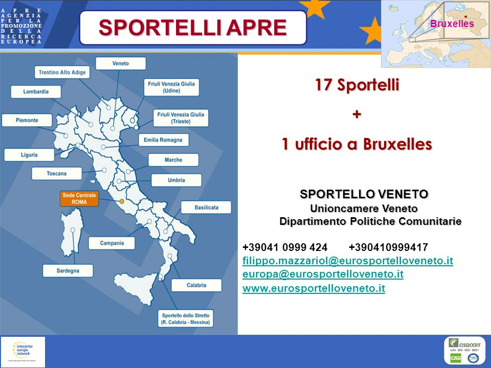 SPORTELLO VENETO Unioncamere Veneto