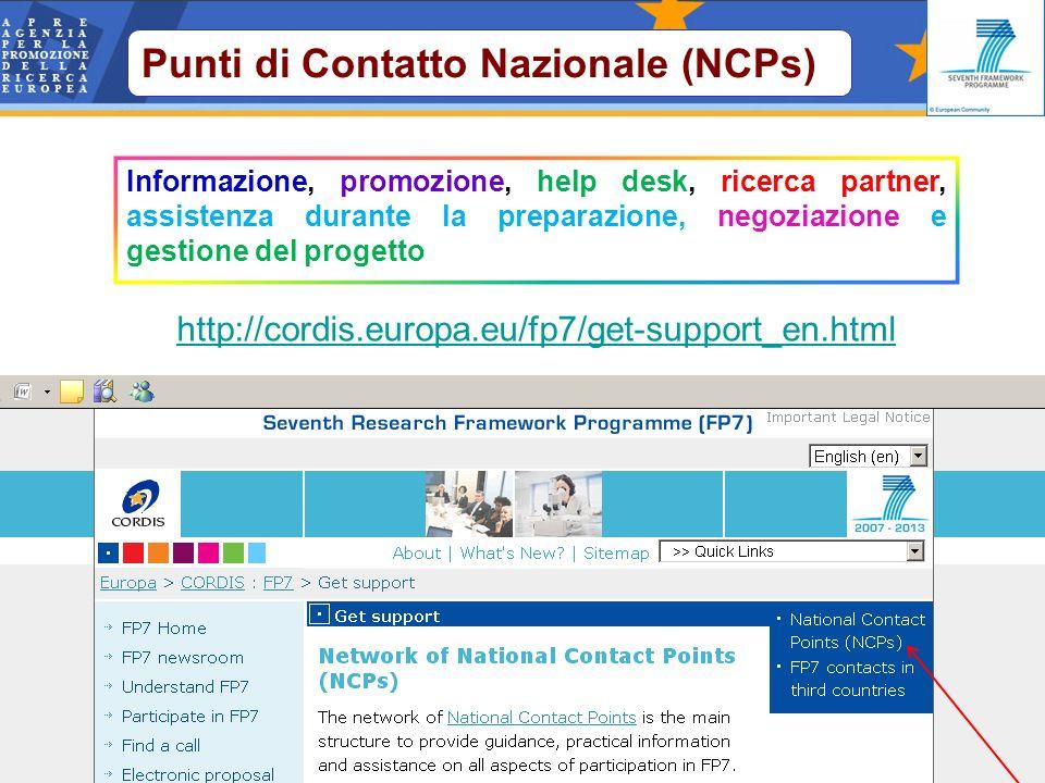 Punti di Contatto Nazionale (NCPs)