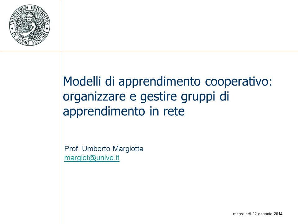 Modelli di apprendimento cooperativo: organizzare e gestire gruppi di apprendimento in rete