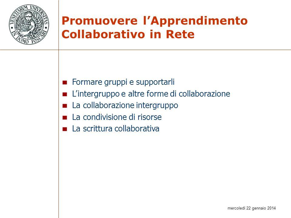 Promuovere l'Apprendimento Collaborativo in Rete