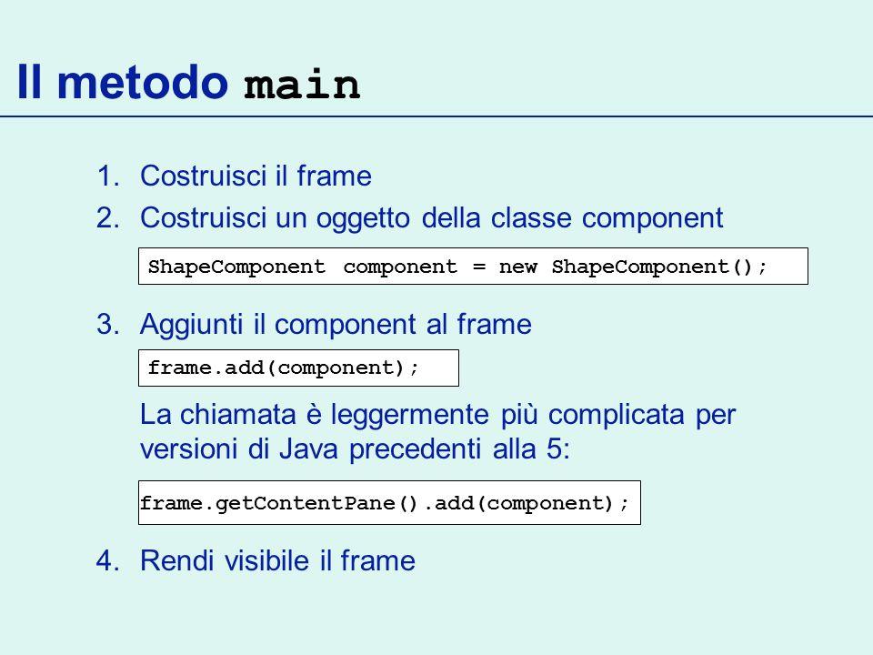 frame.getContentPane().add(component);