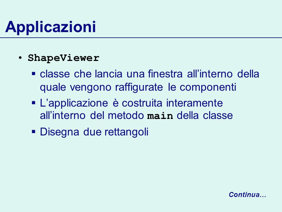 Applicazioni ShapeViewer