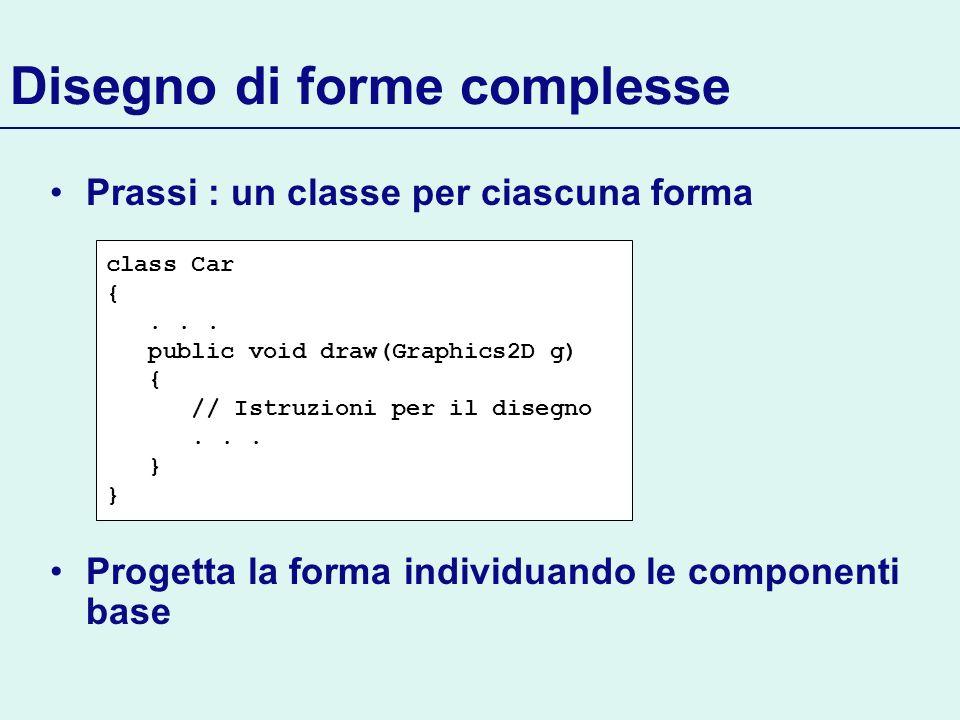Disegno di forme complesse