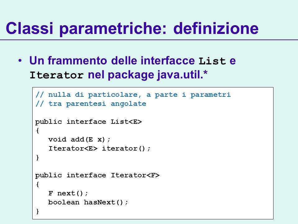 Classi parametriche: definizione