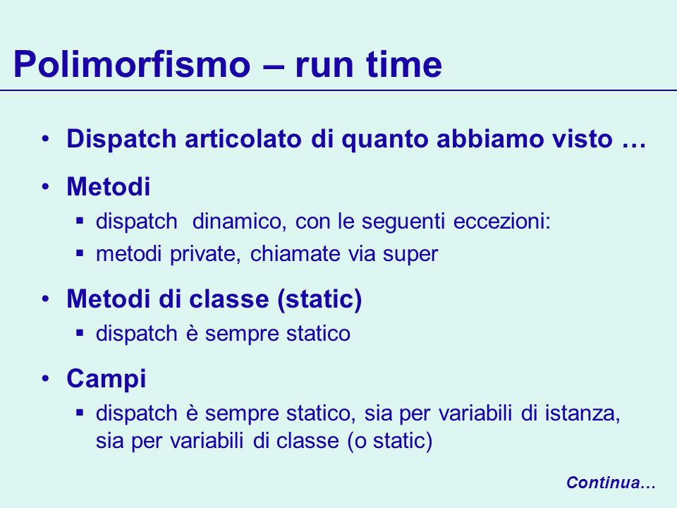 Polimorfismo – run time