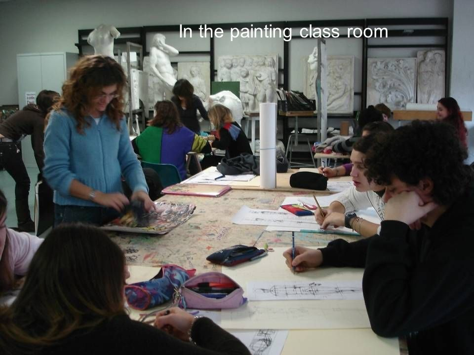 In the painting class room