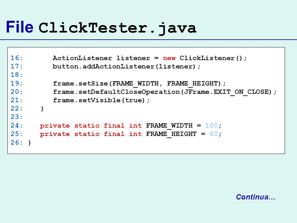 File ClickTester.java Continua…