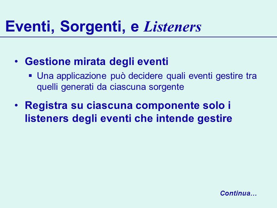 Eventi, Sorgenti, e Listeners